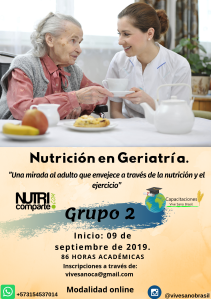 Nutrición en geriatría. Abordaje desde la nutrición y el entrenamiento deportivo. (5)